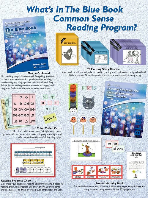 LLATL 3rd Ed: Blue 1st Grade Skills for Beginners Complete Program