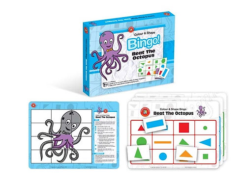 Beat the Octopus (Colour & Shape) Bingo