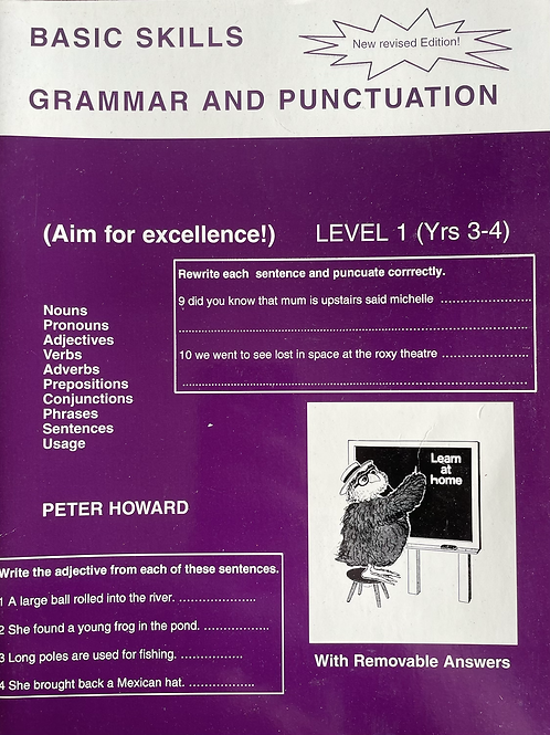 Basic Skills Grammar & Punctuation Student Book Years 3/4