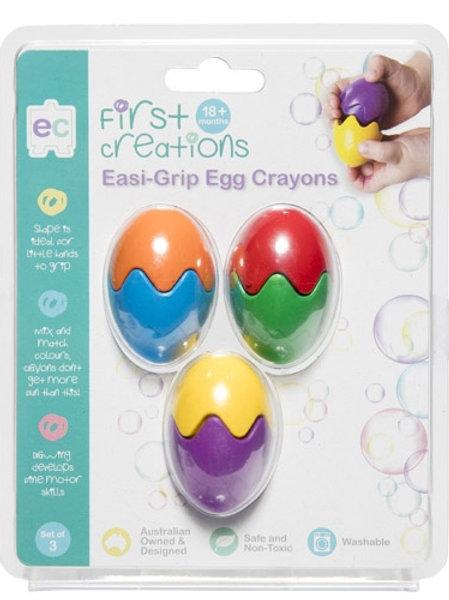 Easi Grip Eggs Crayons Set of 3