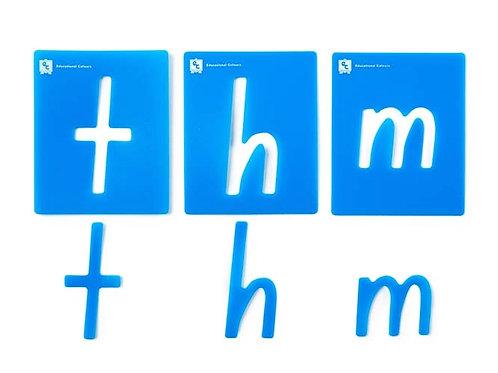 Alphabet Lower Case Stencils Pkt 26 Foundations Font $22.50