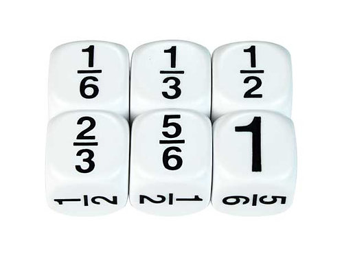 Dice Fractions 6ths 2 Pieces $2.00
