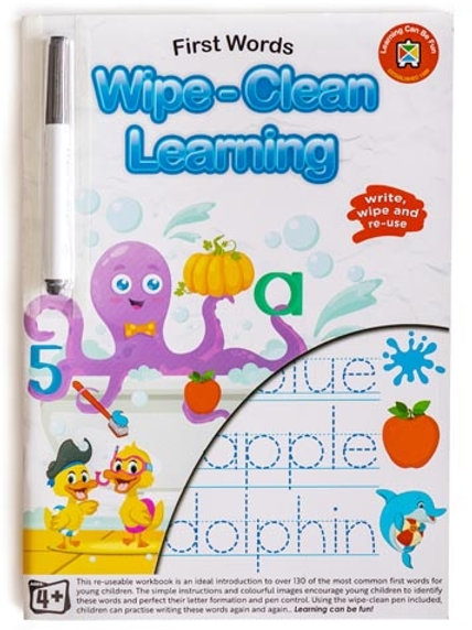 Wipe Clean Early First Words Workbook