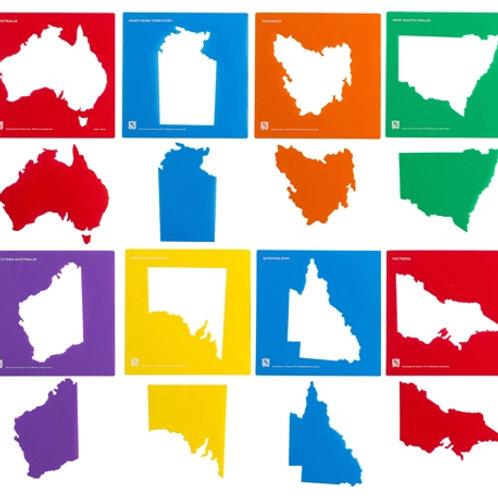 Australia & State Map Stencil Set of 8 $22.50