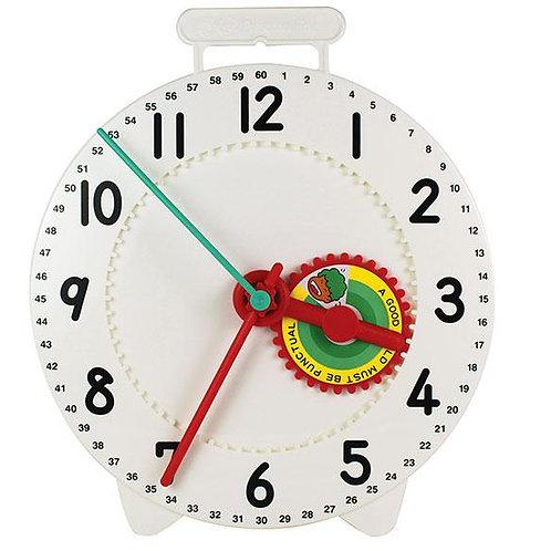 Clock Teacher Large Geared Logi 28cm Dia