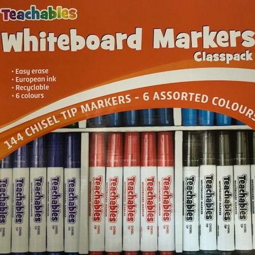 Chisel Whiteboard Markers Box of 144 Classroom Set