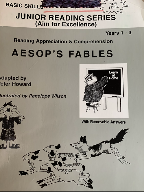 Basic Skills Reading Appreciation & Comprehension Aesop's Fables Years 1-3