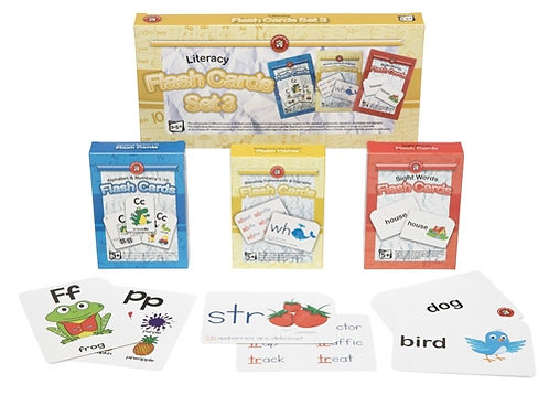 Literacy Flashcards Set of 3