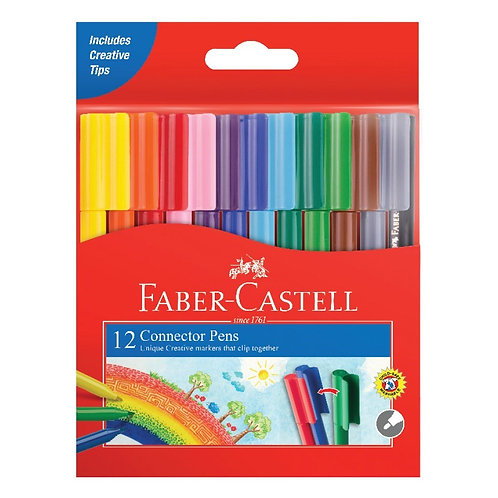 Faber-Castell Connector Pens Assorted Colours 12 Pk