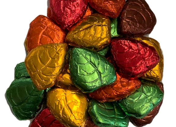 Foil Wrapped Chocolate Leaves 8oz