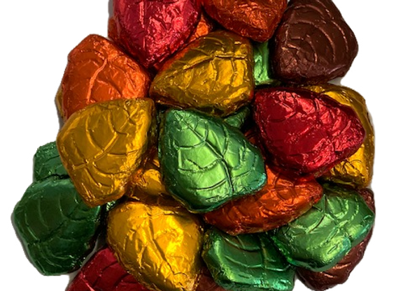 8oz Foil Wrapped Chocolate Leaves