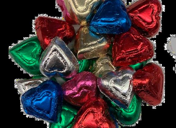1/2 Lb Milk Chocolate Foiled Hearts
