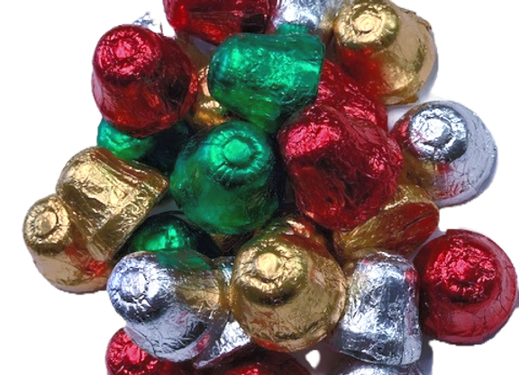 8oz Foil Wrapped Chocolate Bells