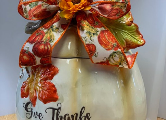 Give Thanks Cookie Jar