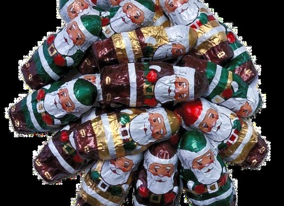8oz Foil Wrapped Chocolate Santas
