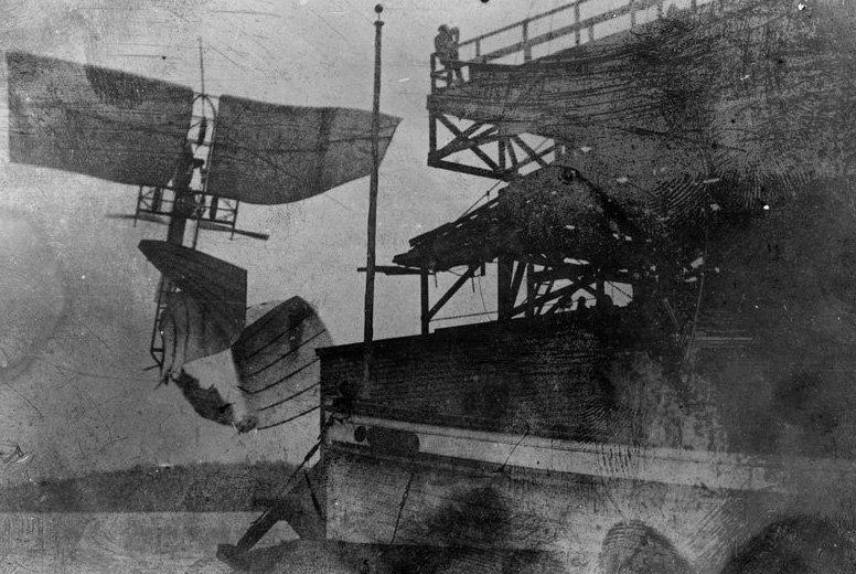 Samuel Langley's Aerodrome crashing