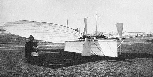 Attempted aircraft by Whitehead in 1901