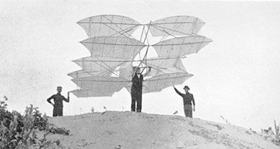 Attempted aircraft by Chanute in 1896