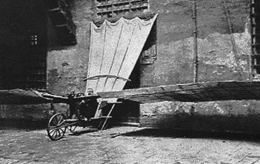 Attempted aircraft by Mouillard in 1878