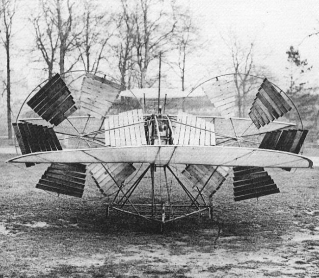 Attemped aircraft by Moy and Steamer in 1875