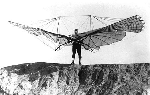 Attempted aircraft by Lilienthal in 1890's.