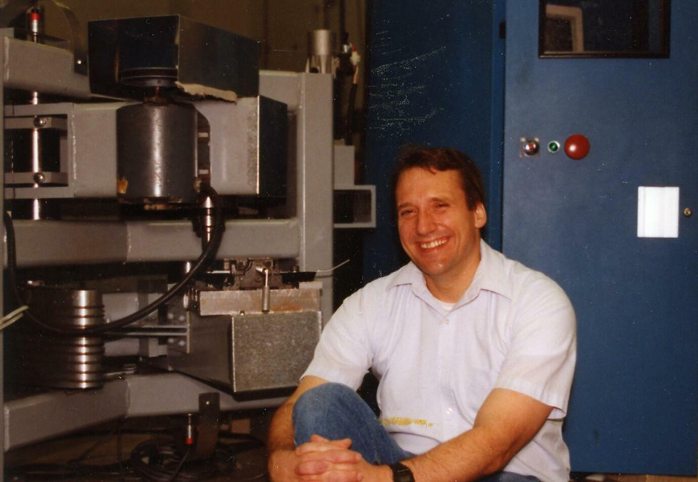 Dr. Allen Ward was always happy to be in his lab.