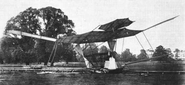 Crashed aircraft by Maxim in 1890's