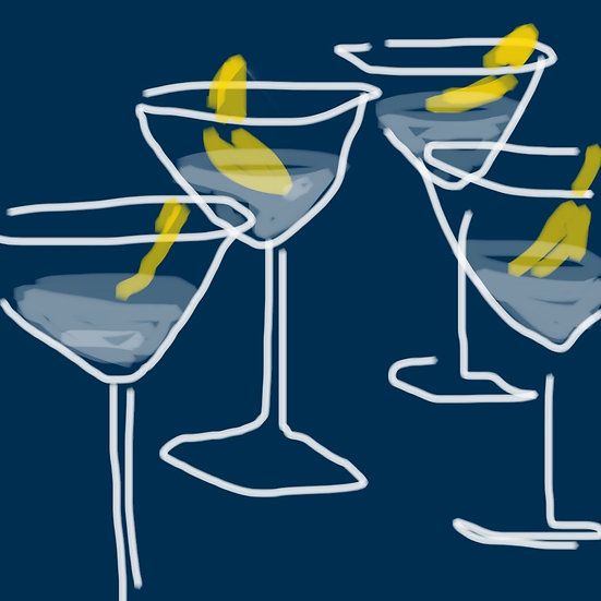 Martinis with friends