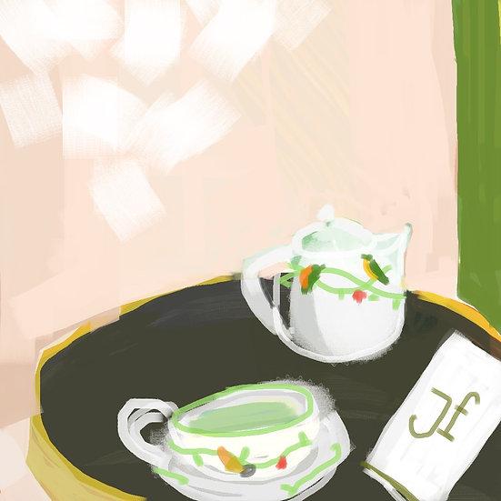 Green tea at The Bristol, Paris