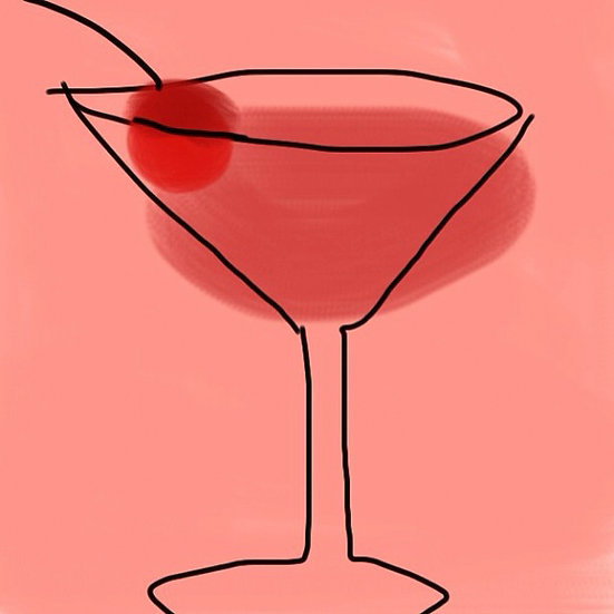 Jack Rose Cocktail with a Cherry