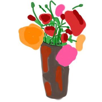 Ranunculus in treasured vase