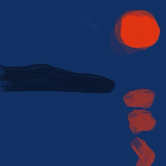 Red Moon over Eggemoggin Reach