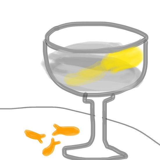 Friday Night Martini with Goldfish