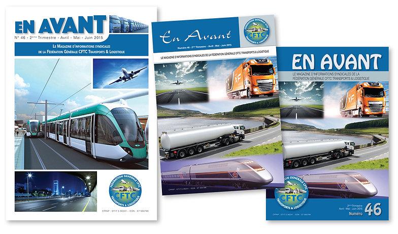 CFTC propositions de 3 couvertures pour un nouveau magazine