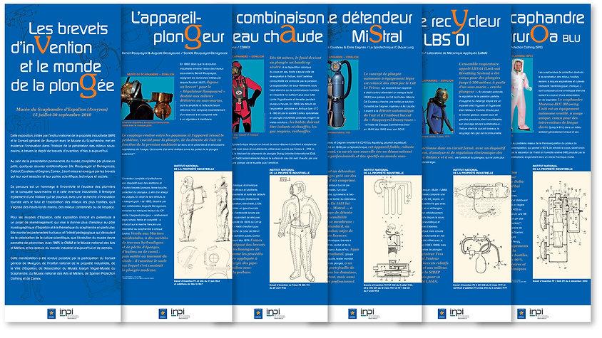 Musée du scaphandre conception et réalisation de 6 panneaux d'exposition