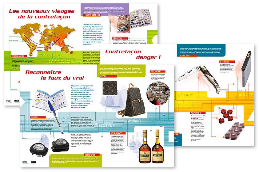 INPI Expo Contrefaçon 12 panneaux