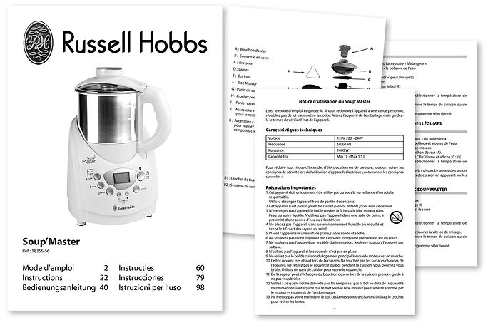Russell Hobbs Notice Soup'Master_6_langues