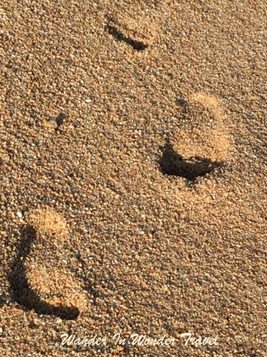 Footprints in the Cabo sand