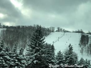 Snowy Seven Springs Mountain
