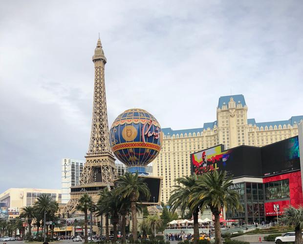 Scenic view on the Las Vegas strip