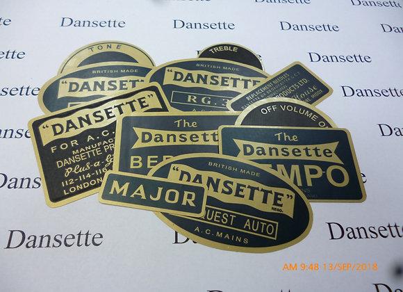 Dansette Labels