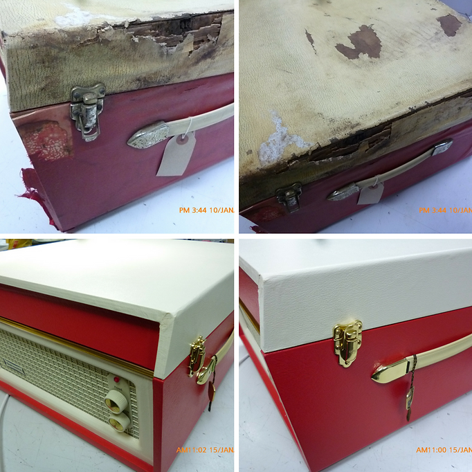 Dansette Bermuda Before and After Restoration