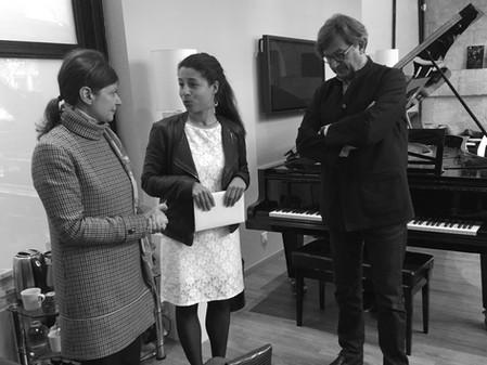 Exposition ITINERANCE : Remise de chèque pour l'association Haiti Piano Project