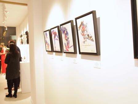 """Vernissage """"Portraits de Chaussures"""" à l'espace Chamberlan"""