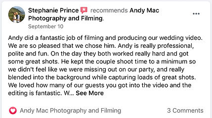 2 Andy Mac Photography Reviews on Facebo