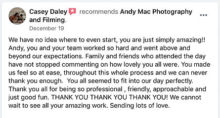 14 Andy Mac Photography Reviews on Faceb