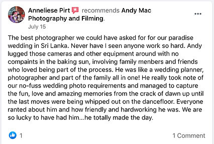 7 Andy Mac Photography Reviews on Facebo