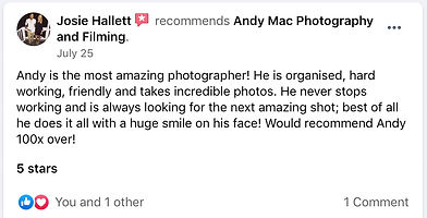5 Andy Mac Photography Reviews on Facebo
