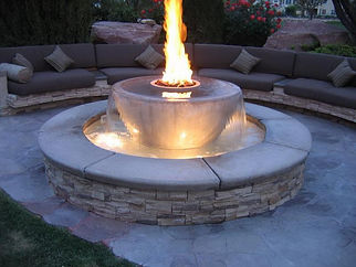Fire Pit and Water Feature