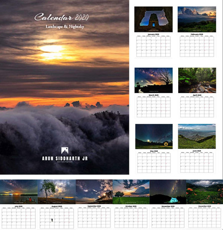 Landscape & Nightsky Calendar 2020